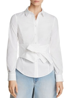 KAREN MILLEN Tie-Front Shirt - 100% Exclusive