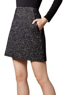 KAREN MILLEN Tweed A-Line Skirt