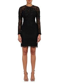 Karen Millen Women's Embellished Floral Lace Dress