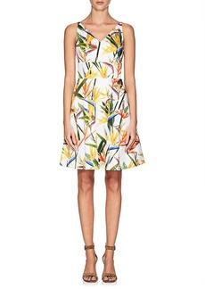 Karen Millen Women's Floral Stretch-Cotton Dress