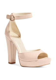 KAREN MILLEN Women's Patent Leather Platform High Heel Sandals