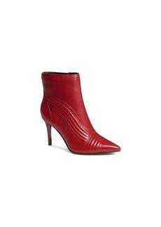 KAREN MILLEN Women's Pointed Toe Nappa Leather High-Heel Booties