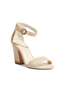 KAREN MILLEN Women's Suede Block Heel Sandals