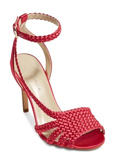 KAREN MILLEN Women's Woven Satin High Heel Sandals