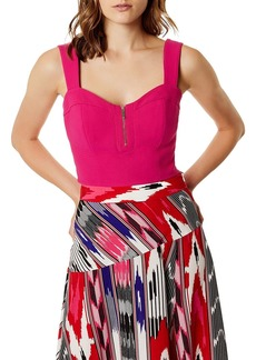 KAREN MILLEN Zip-Front Cropped Top
