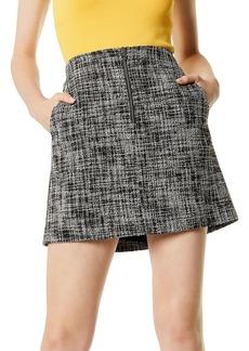 KAREN MILLEN Zip-Front Tweed Skirt