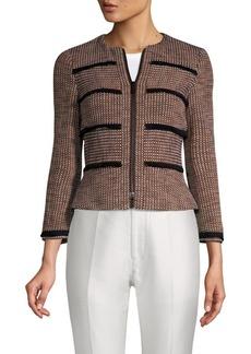 Karen Millen Tassel-Trimmed Tweed Jacket