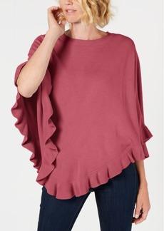 Karen Scott Asymmetric Ruffled Poncho, Created for Macy's