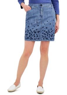 Karen Scott Blossom Border Chambray Skort, Created for Macy's