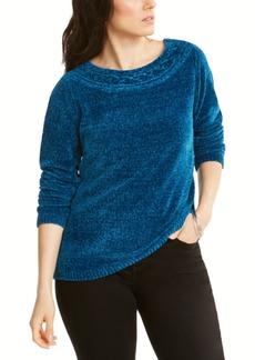 Karen Scott Boat-Neck Chenille Sweater, Created for Macy's