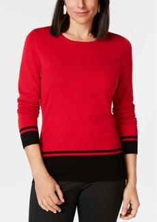 Karen Scott Border-Stripe Sweater, Created for Macy's