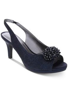 Karen Scott Breena Slingback Peep-Toe Pumps, Created For Macy's Women's Shoes