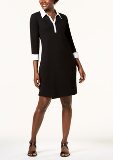 Karen Scott Cotton 3/4-Sleeve Shirtdress, Created for Macy's