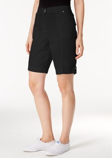 Karen Scott Cotton Blend Shorts, Only at Macy's