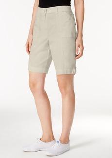 Karen Scott Cotton Blend Shorts, Only at Macy's