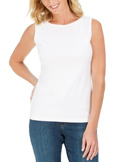 Karen Scott Cotton Boat-Neck Tank Top, Created for Macy's