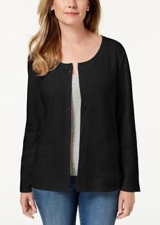 Karen Scott Cotton Button-Down Cardigan, Created for Macy's