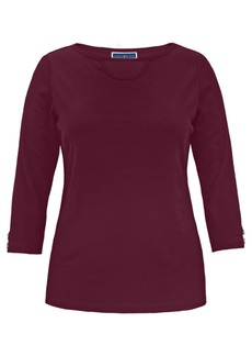 Karen Scott Cotton Cutout Boatneck T-Shirt, Created for Macy's