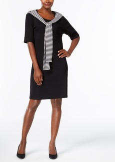 Karen Scott Cotton Front-Tie Shift Dress, Created for Macy's