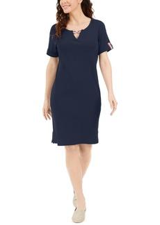 Karen Scott Cotton Keyhole Dress, Created for Macy's
