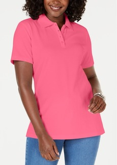 Karen Scott Cotton Pique Polo Top, Created for Macy's