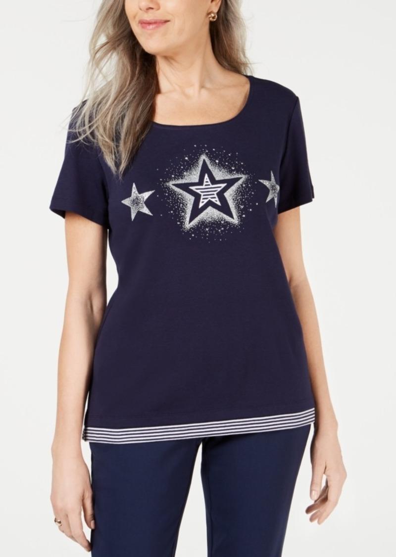 Karen Scott Star Graphic T-Shirt, Created for Macy's