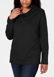 Karen Scott Sport Cowl-Neck Top, Created for Macy's