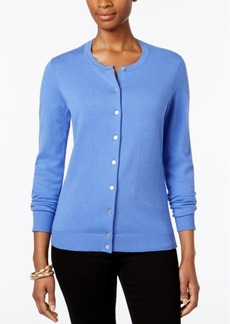 Karen Scott Crew-Neck Cardigan, Only at Macy's