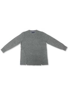 Karen Scott Crewneck Notch-Hem Sweater, Created for Macy's