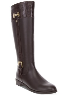 Karen Scott Deliee2 Wide-Calf Riding Boots, Created for Macy's Women's Shoes