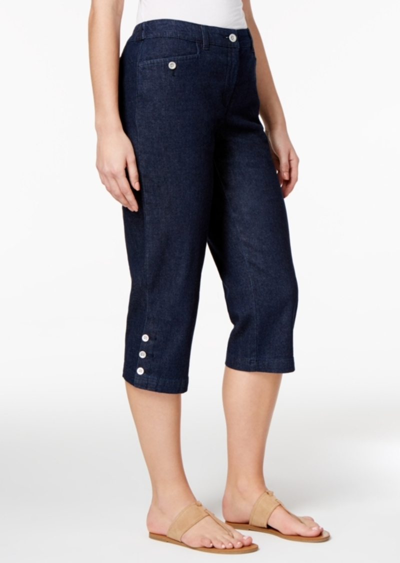 Sale Karen Scott Karen Scott Denim Capri Pants Created
