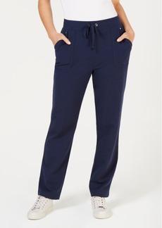 Karen Scott Drawstring Straight-Leg Pants, Created for Macy's
