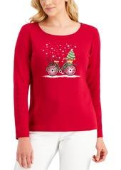 Karen Scott Embellished Top, Created for Macy's