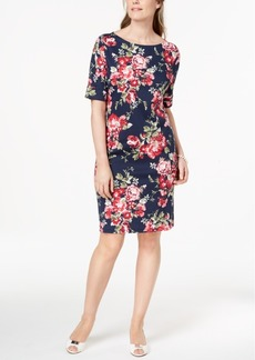 Karen Scott Floral-Print Shift Dress, Created for Macy's