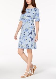Karen Scott Floral-Print T-Shirt Dress, Created for Macy's