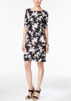 Karen Scott Petite Floral-Print T-Shirt Dress, Only at Macy's