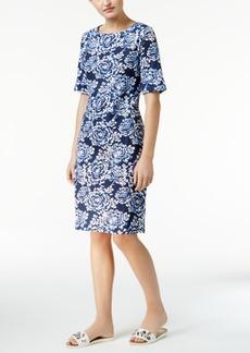 Karen Scott Floral-Print T-Shirt Dress, Only at Macy's