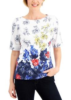 Karen Scott Floral-Print Top, Created for Macy's