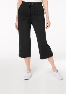 Karen Scott French Terry Drawstring Capri Pants, Created for Macy's