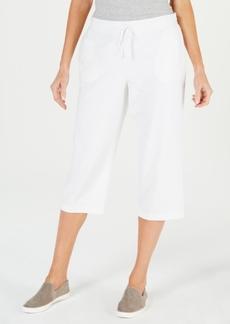 Karen Scott Knit Drawstring Capri Pants, Created for Macy's