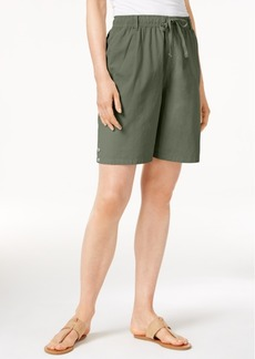 Karen Scott Lisa Pull-On Cotton Shorts, Only at Macy's