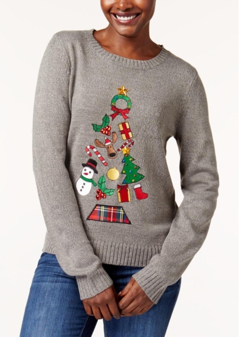 Macys Christmas Sweaters.Petite Holiday Tree Sweater Created For Macy S