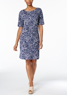 Karen Scott Paisley-Print T-Shirt Dress, Created for Macy's