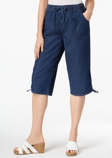 Karen Scott Cotton Ruched-Leg Pull-On Pants, Created for Macy's