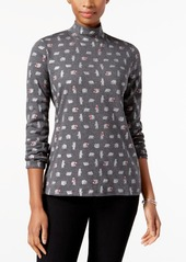 Karen Scott Petite Cotton Polar Bears Printed Top, Created for Macy's