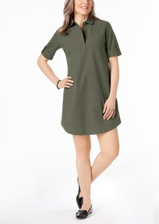 Karen Scott Petite Cotton Roll-Tab Shirtdress, Created for Macy's