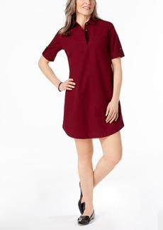 Karen Scott Petite Cotton Roll-Tab Shirtdress, Created for Macy's