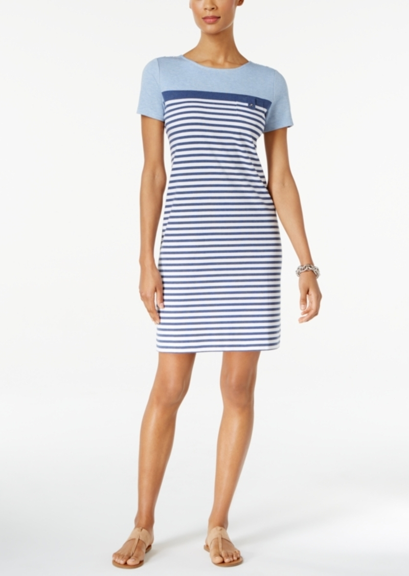 382489da5ccd Karen Scott Karen Scott Petite Cotton Striped T-Shirt Dress, Only at ...