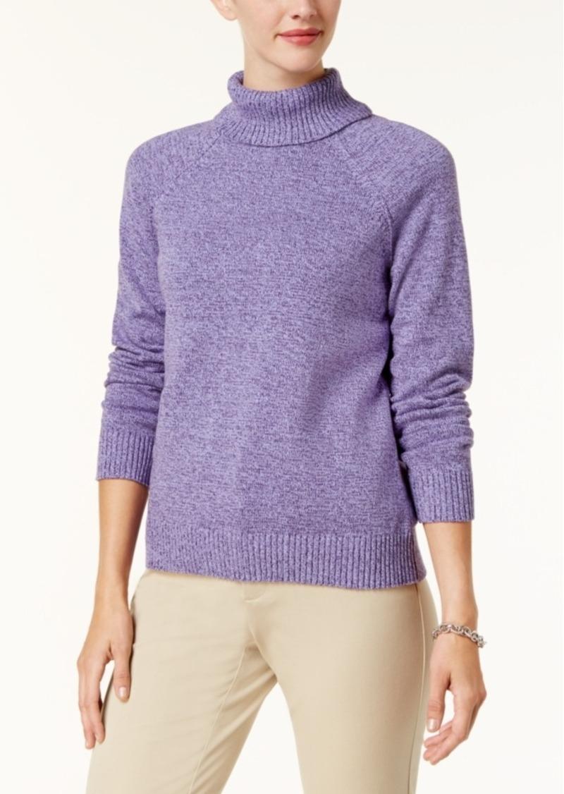 Karen Scott Karen Scott Petite Cotton Turtleneck Sweater, Created ...