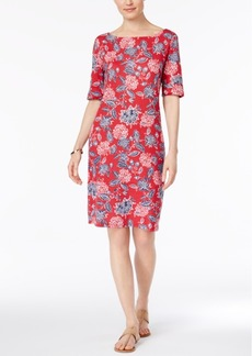 Karen Scott Petite Floral-Print Shift Dress, Created for Macy's